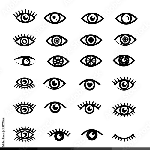 eye icon set illustration design Fototapete