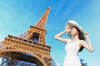 young woman travel in Paris