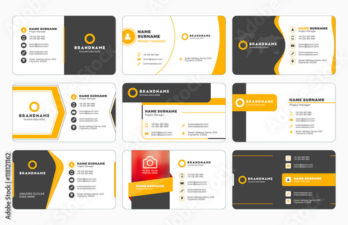 Fotografija Set of modern business card print templates