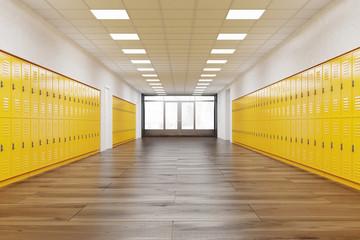 Corridor in school