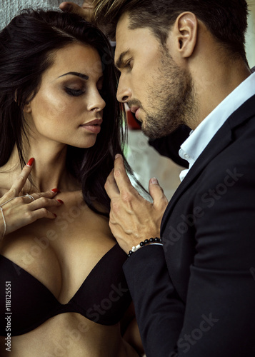 Sexy woman and sexy man