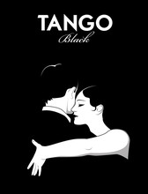 Young Couple Dancing Tango. Comic Style.