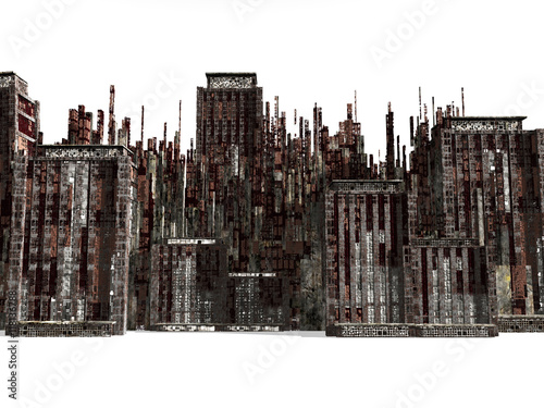 Fotografie, Obraz  Dead town,  3D rendering