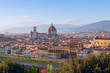 Beautiful views of Florence cityscape in the background Cathedra