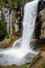 Panel Szklany Wodospad Waterfall Rainbow