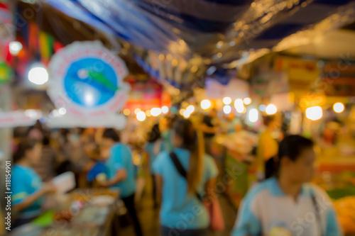 Foto auf Gartenposter Las Vegas Blur or Defocus image in Thailand market.