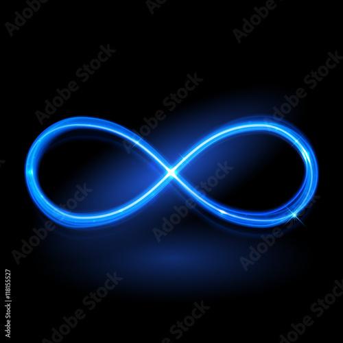 Carta da parati  ector magic glowing light infinity sign