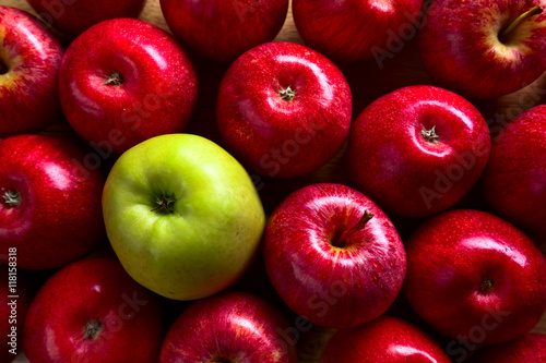 ripe juicy apples Canvas Print