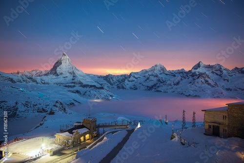 Matterhorn, Switzerland. Canvas Print