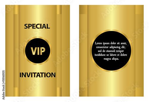 Golden Vip Invitation Card Template A Golden Vip Invitation