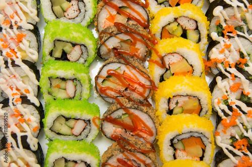 Sushi, Japanese food - 118169520