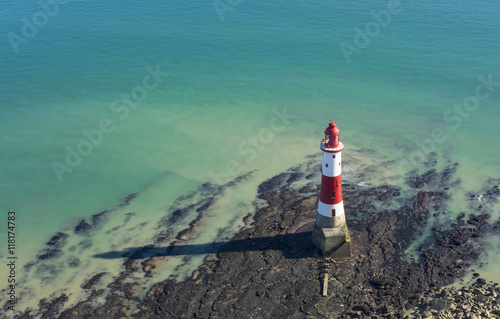 Fotografie, Obraz  Lighthouse on a sunny day in Seven Sisters, England.