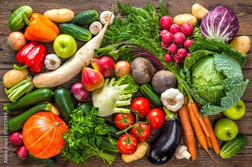 Foto op Aluminium Vruchten Assortment of the fresh vegetables