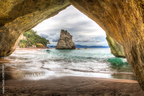 Foto op Canvas Cathedral Cove Cathedral Cove #1, New Zealand