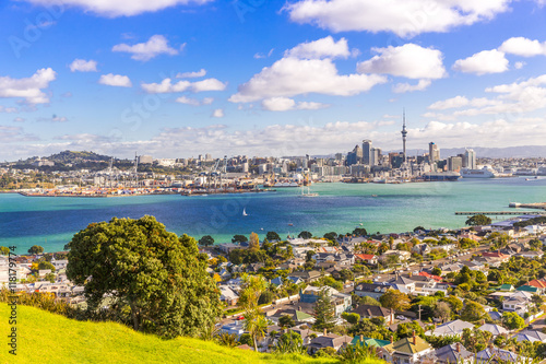 Aluminium Prints New Zealand Skyline of Auckland #1, New Zealand