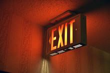 Illuminated Emergency Exit On ...