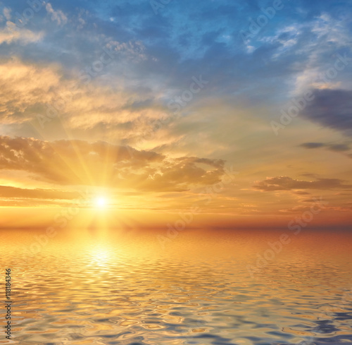 plakat Beautiful sea sunset