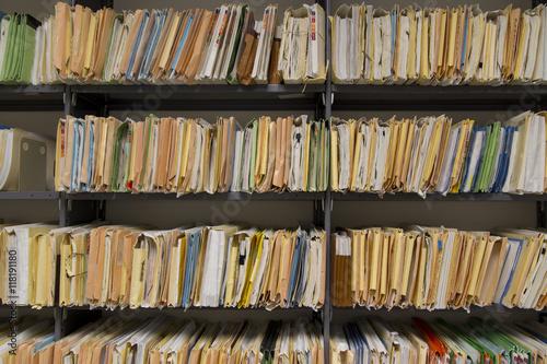 Fotografie, Obraz  Filing records
