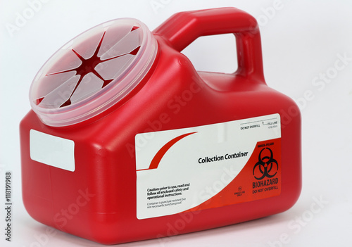Fotografie, Obraz  Home portable sharps container for sharp needle and other bio hazard material di