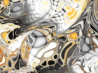 Obraz na SzkleFractal digital background