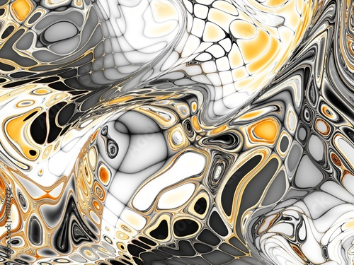 Keuken foto achterwand Fractal waves Fractal digital background