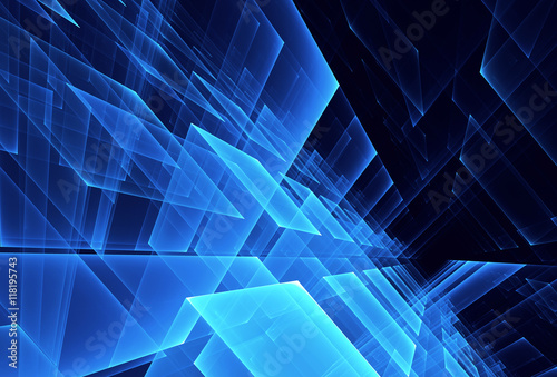 Obraz abstract fractal background, 3D-illustration - fototapety do salonu