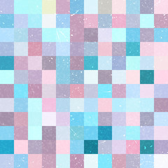 FototapetaSeamless geometric checked pattern. Pink, blue colors.