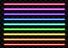 Neon Tube Light Pack Isolated ...