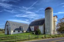 Large Old Barn On A Farm In Bu...
