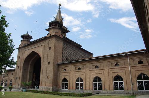 Fotobehang Monument Mosque in Srinagar in Kashmir, India