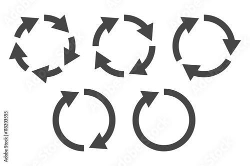 Fotografie, Tablou Repetitive process icon with circular arrows explanation