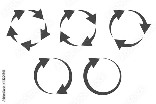 Photo  Repetitive process icon with circular arrows explanation