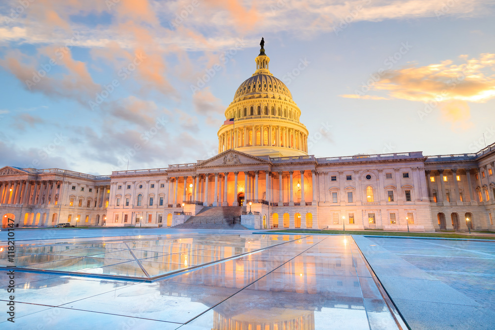 Fototapety, obrazy: The United States Capitol building