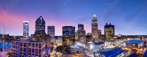 Skyline of downtown Charlotte in north carolina Canvas