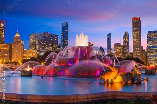 Foto op Plexiglas Chicago Buckingham fountain