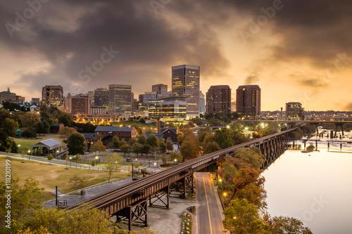 Fotografie, Obraz  Downtown Richmond, Virginia skyline