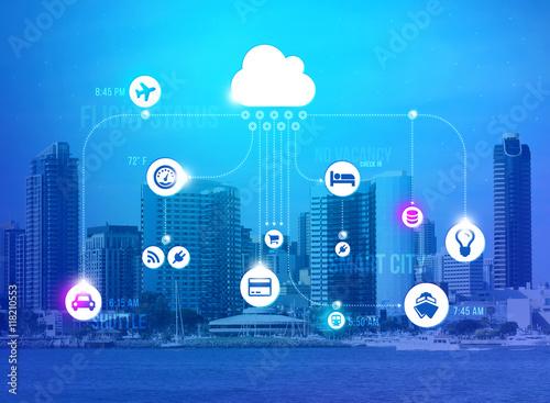 Fotografia  Smart city concept