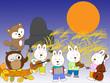 満月の夜の動物のコンサート