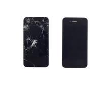 Normal And Broken Smart Phone