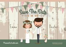 Couple Rustic Wedding Invitati...