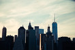 Manhattan sunset, New York