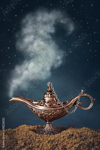 Fotografie, Obraz  Aladdin magic lamp