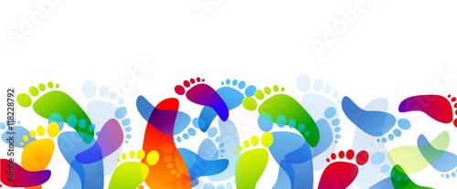 Fotografía  impronte piedi, arte, colori, creatività,fantasia