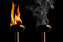 Burning Flaming Torch