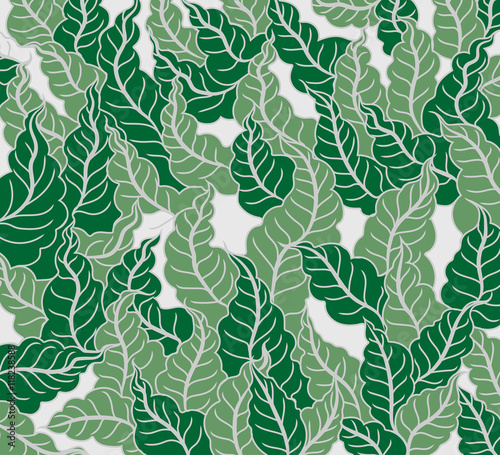 Leaf pattern vector nature abstract background #118238588