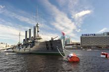 The Aurora Cruiser After Repair In Saint Petersburg