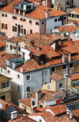 Fototapeta Wenecja Italy. Venice. Top view on roofs
