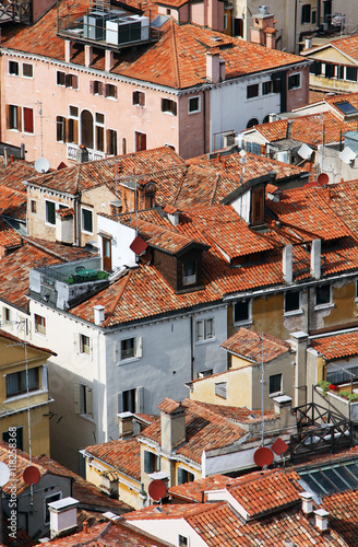 Italy. Venice.  Top view on roofs - 118258368