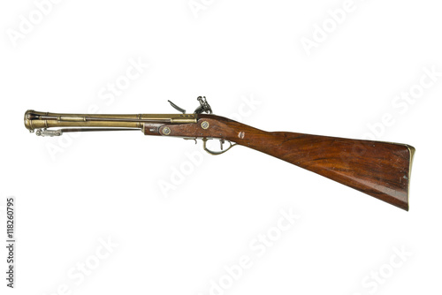 antique blunderbuss rifle gun on stage coach Wallpaper Mural