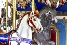 Carousel Horse On Brass Pole